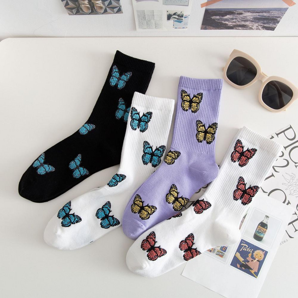 Butterfly Ankle Socks (4 Colours)