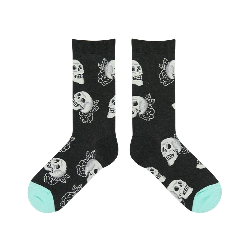 Rose Skull Socks - Ice Cream Cake