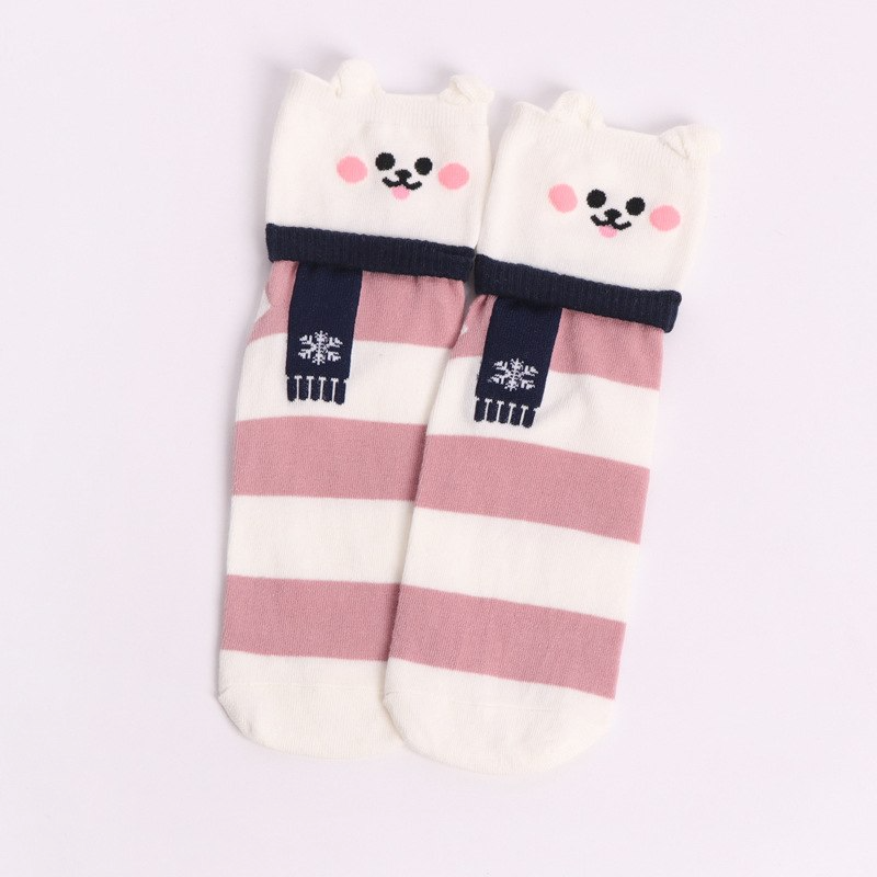 Winter Scarf Animal Ankle Socks (5 Designs) - Ice Cream Cake