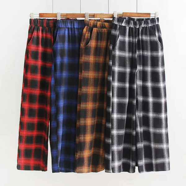 Plaid Pajama Style Pants (4 Colours)