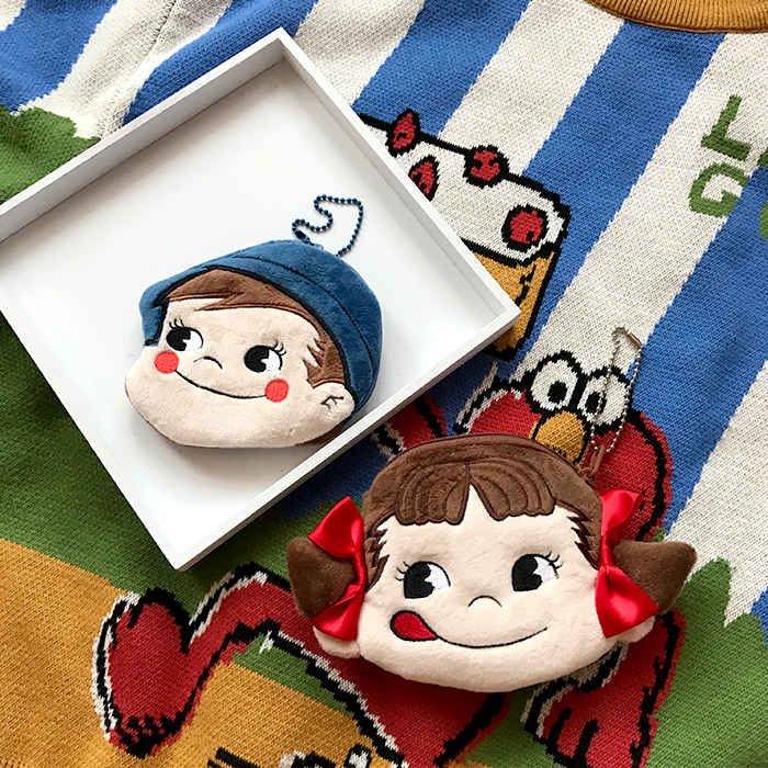 Peko and Poko Chan Soft Coin Purse (2 Designs) - Ice Cream Cake