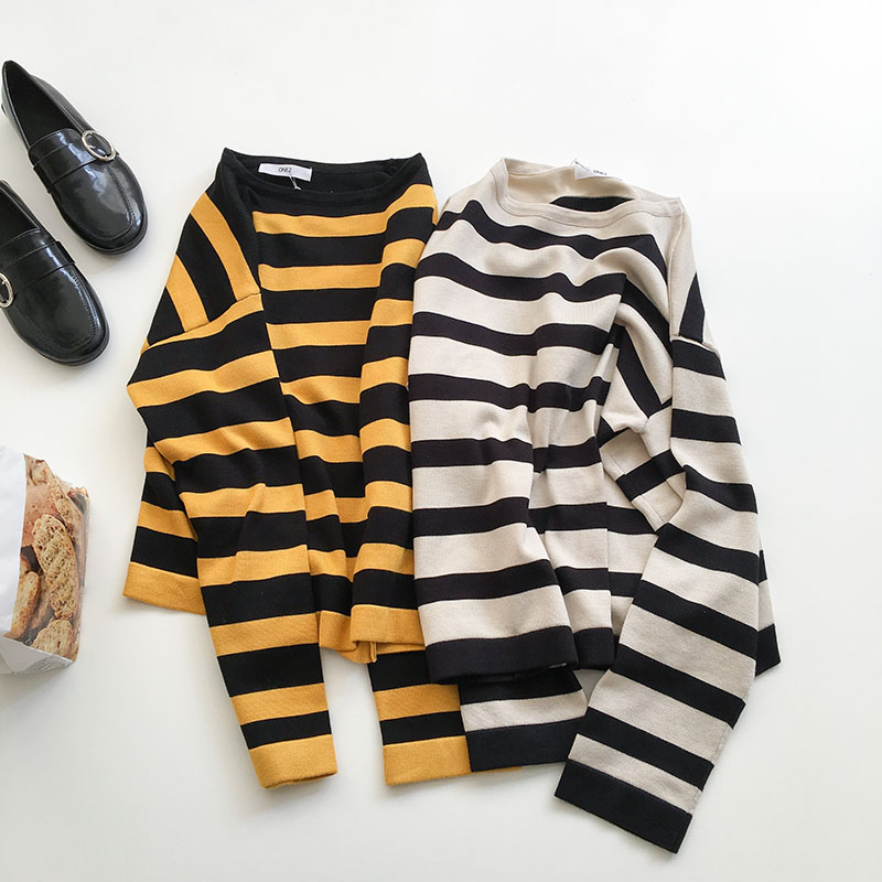 Stripey Longsleeved Top (3 colours) - Ice Cream Cake