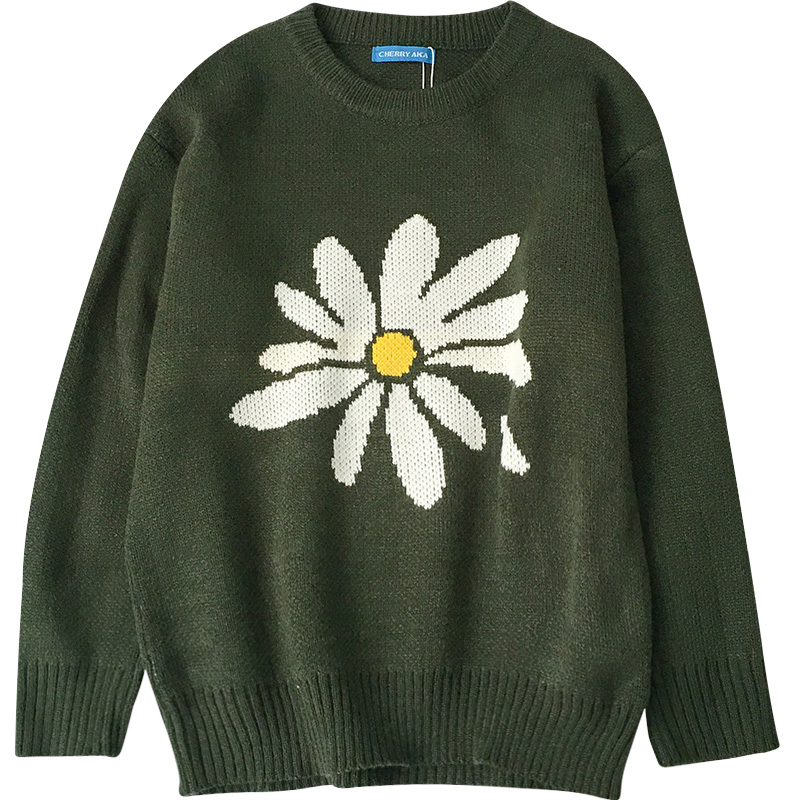 Knit Daisy Sweater - Ice Cream Cake