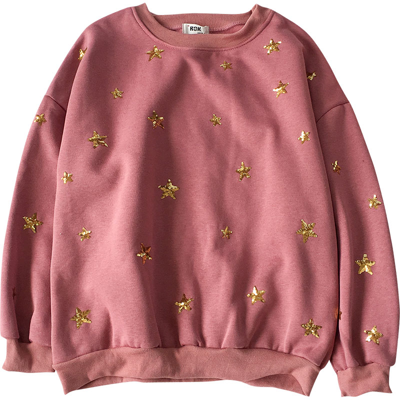 Sequin Gold Star Jumper (2 colours) - Ice Cream Cake