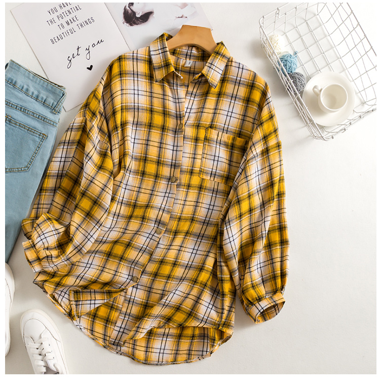 Basic Check Blouse (2 Colours) - Ice Cream Cake
