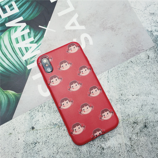 Peko Milky Pattern iPhone Case