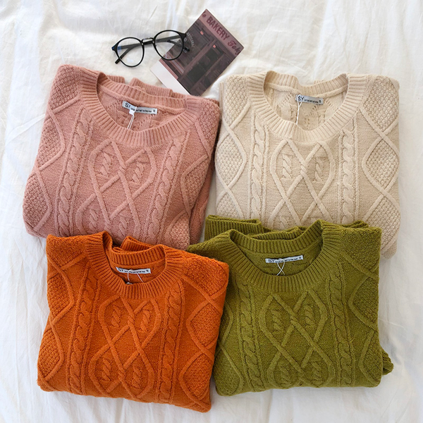 Fisherman Knit Jumper (4 colours) - Ice Cream Cake