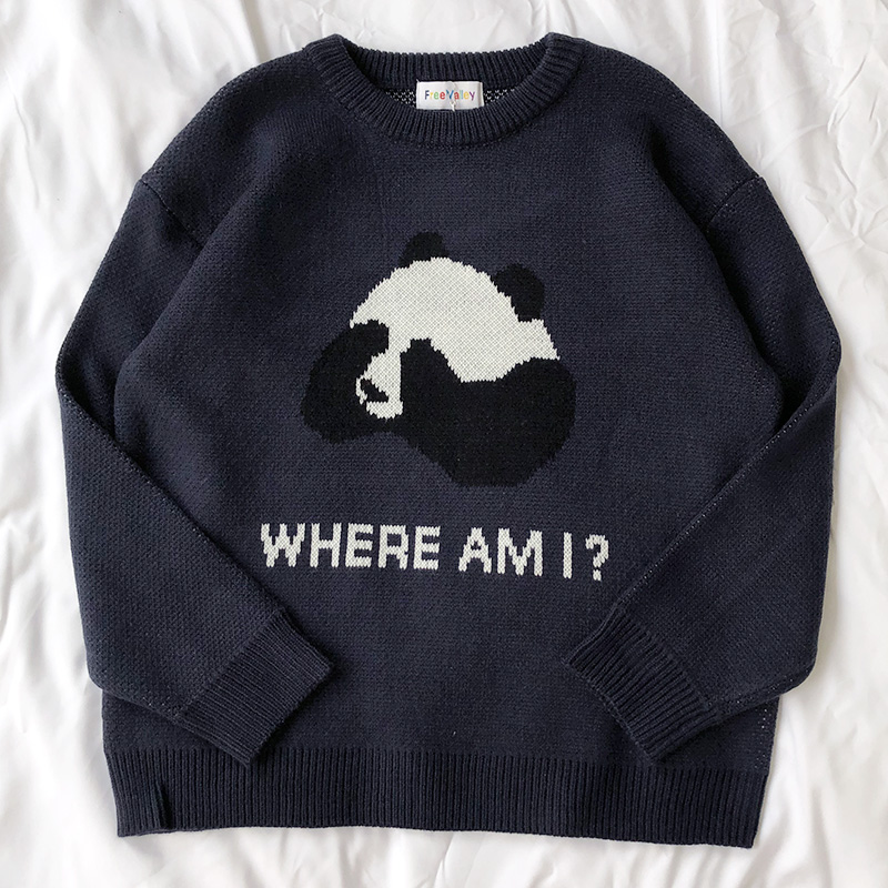 """Where Am I?"" Panda Jumper (2 Colours) - Ice Cream Cake"
