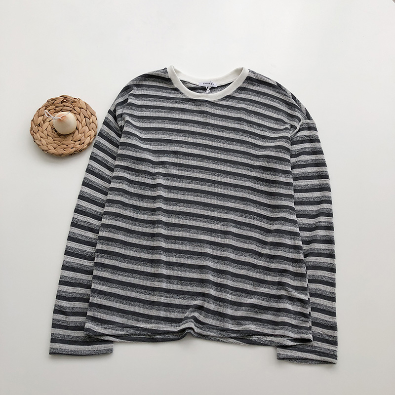 Grunge Stripe Longsleeved Top (2 colours) - Ice Cream Cake