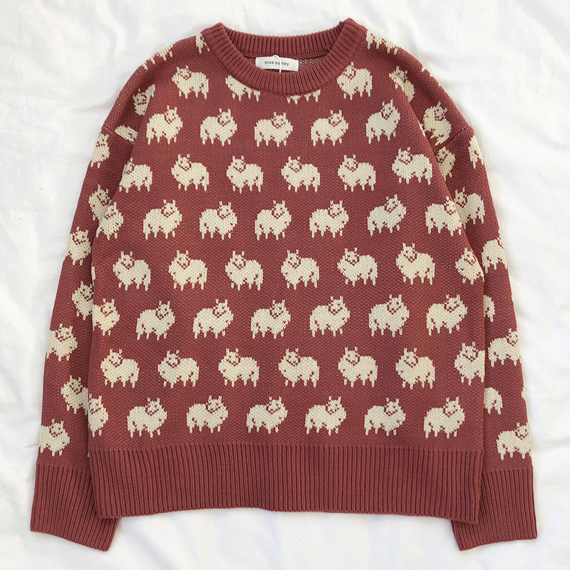 Sheep Pattern Jumper (2 colours) - Ice Cream Cake