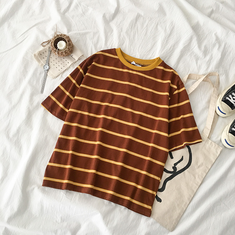 Sunrise Stripe Tee (3 Colours) - Ice Cream Cake