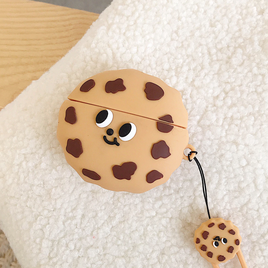 Smiley Cookie Airpod Case Cover - Ice Cream Cake