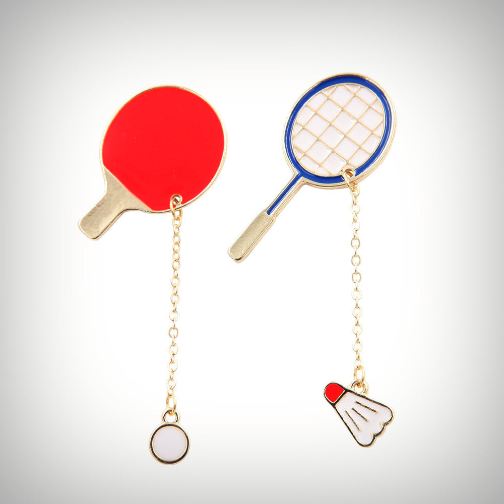 Sports Racket Charm Pin (2 Designs) - Ice Cream Cake