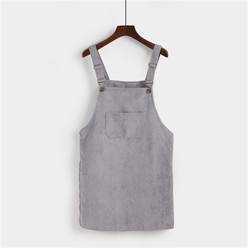 Lightweight Corduroy Pinafore Jumper Dress (7 colours) - Ice Cream Cake
