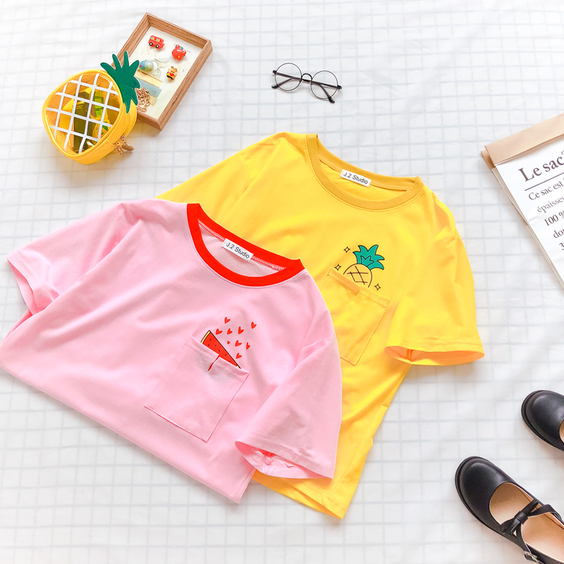 Secret Pocket Fruit Tees (2 colours)