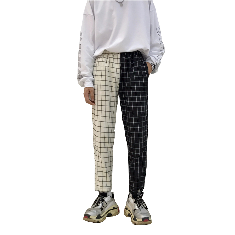 Patchwork Check Pants (2 Colours) - Ice Cream Cake