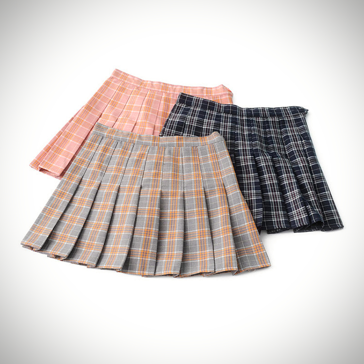 Check Mini Tennis Skirt With Safety Shorts (3 Colours) - Ice Cream Cake