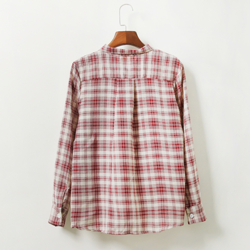 Bow Collar Check Blouse (3 Colours) - Ice Cream Cake
