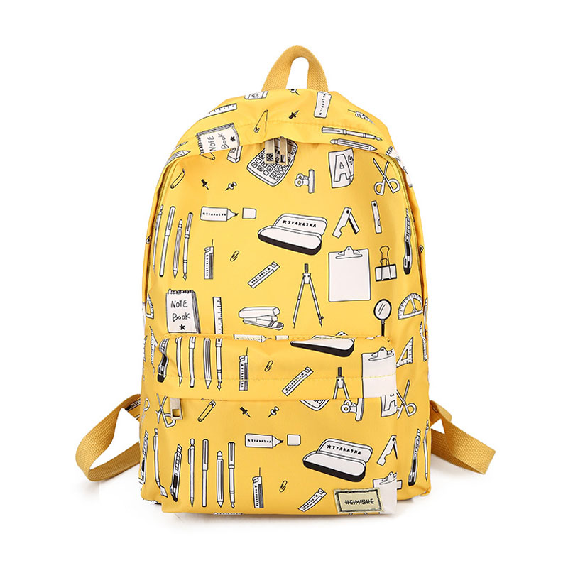 School Supply Pattern Backpack (4 Colours)