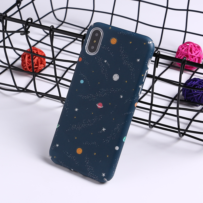 Glow in the Dark Galaxy iPhone Case - Ice Cream Cake