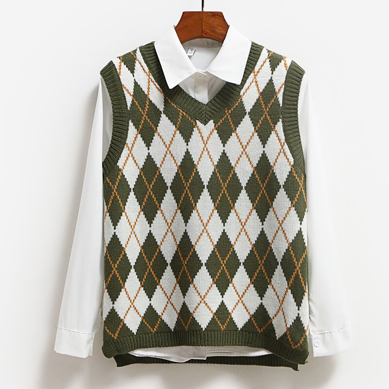 Argyle Sweater Vest (4 colours)