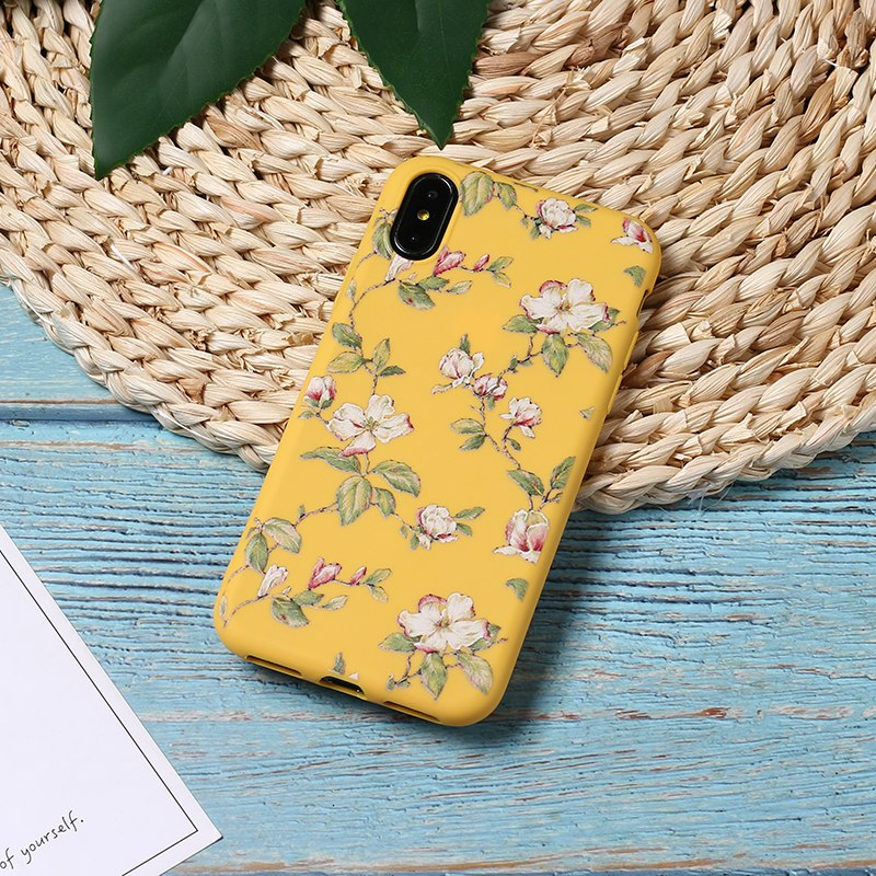 Vintage Flower Pattern iPhone Case (5 Colours) - Ice Cream Cake