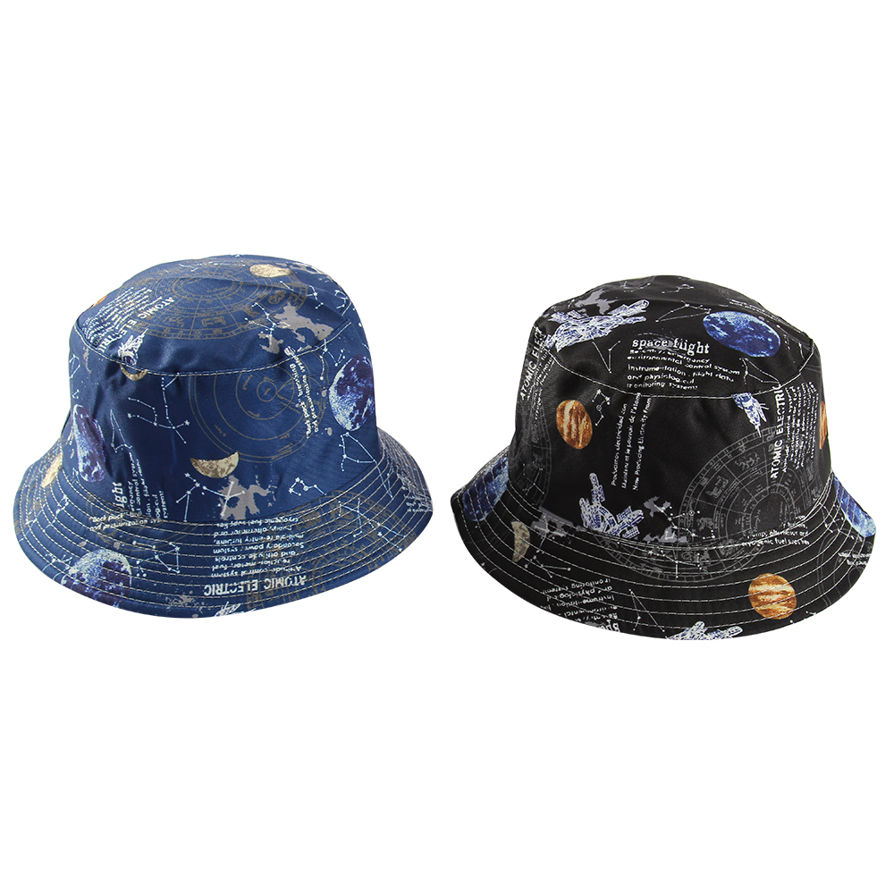 Retro Space Print Reversible Bucket Hat (2 Colours) - Ice Cream Cake