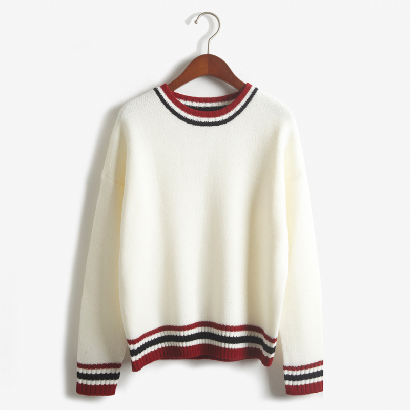 Vintage Style Contrast Stripe Knit (2 colours) - Ice Cream Cake