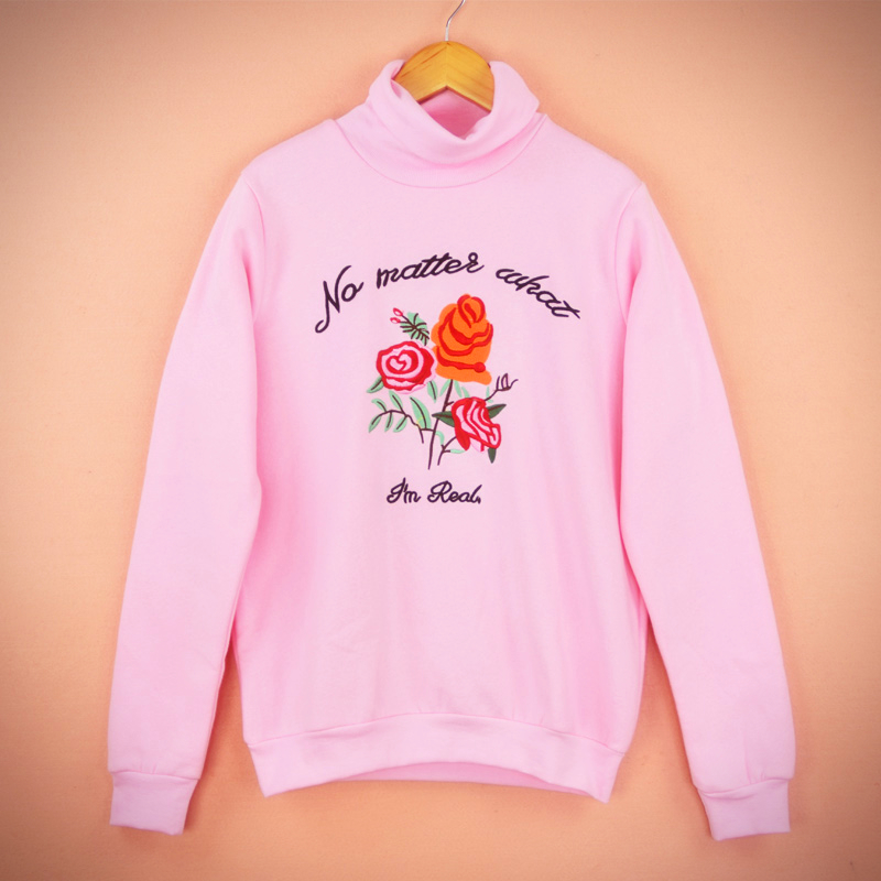 Rose Embroidery Jumper - Ice Cream Cake