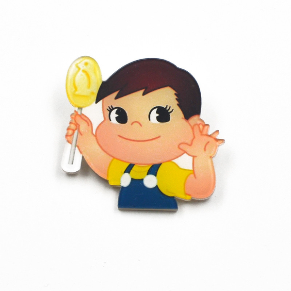 Milky Candy Boy Acrylic Badge - Ice Cream Cake