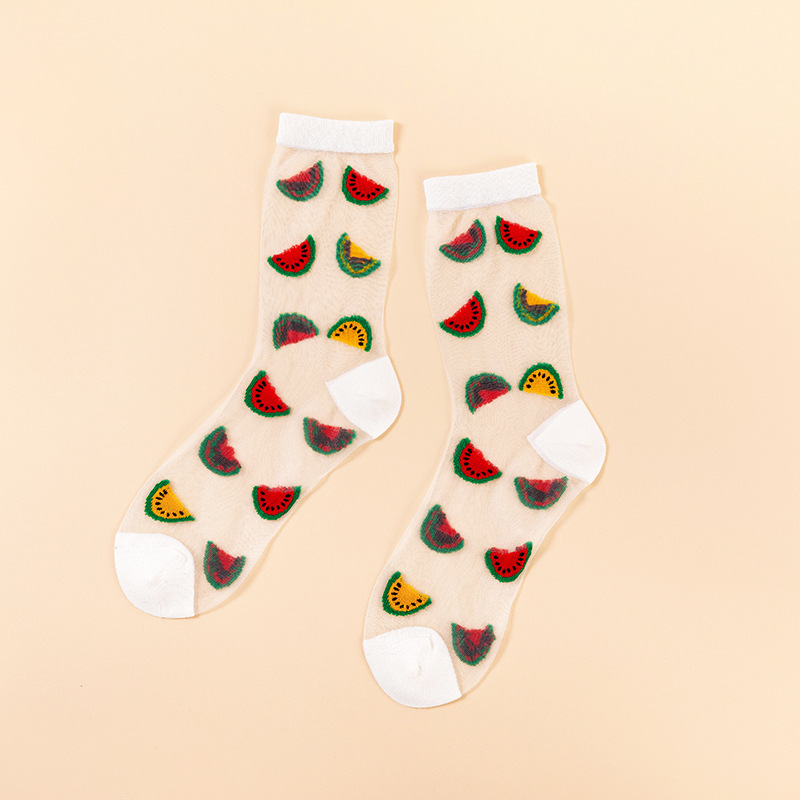 Transparent Fruit Ankle Socks (5 Designs)