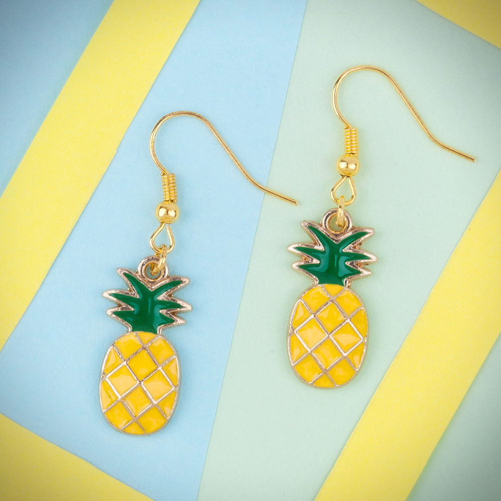Pineapple Earrings - Ice Cream Cake