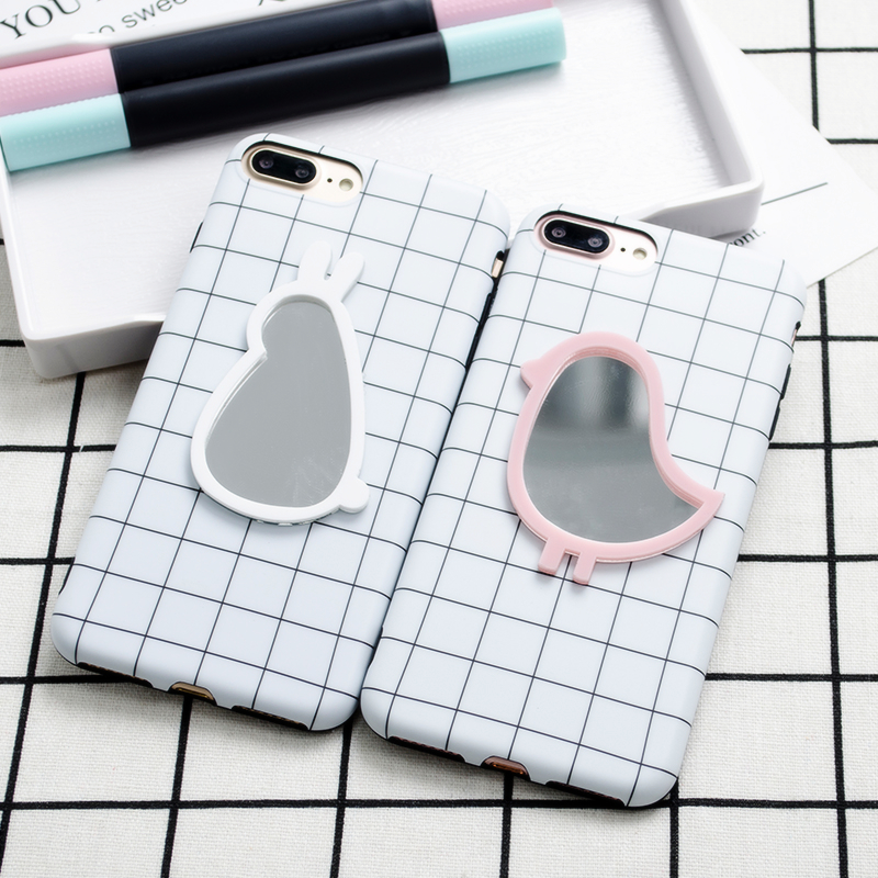Animal Mirror Grid iPhone Case (2 Designs, 2 Colours) - Ice Cream Cake