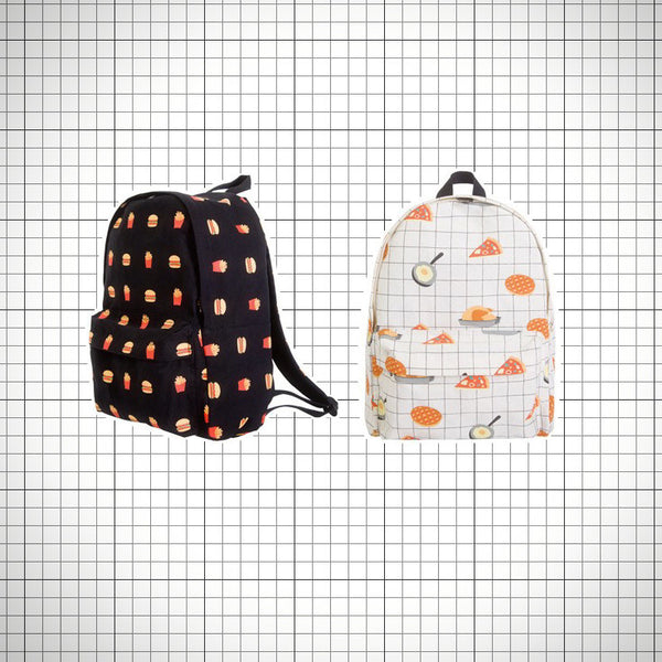 Canvas grid snack backpacks - Ice Cream Cake