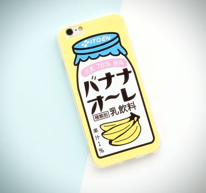 Japanese Banana Milk iPhone Case - Ice Cream Cake