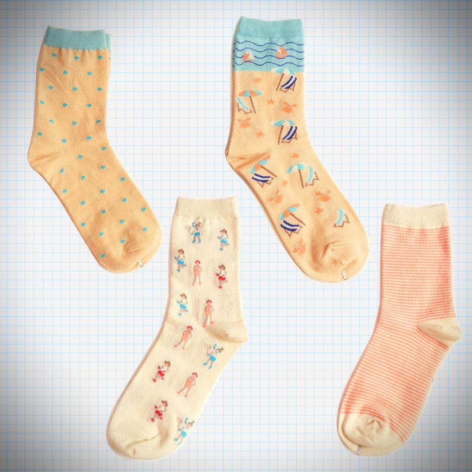 Beach party sock sets (2 pairs) - Ice Cream Cake