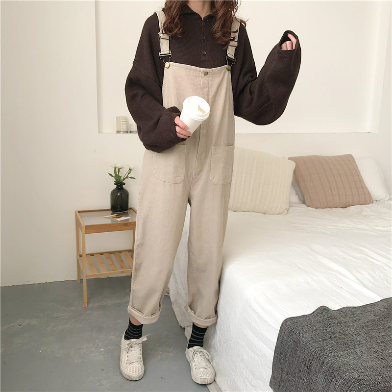 Corduroy Overalls (3 Colours) - Ice Cream Cake