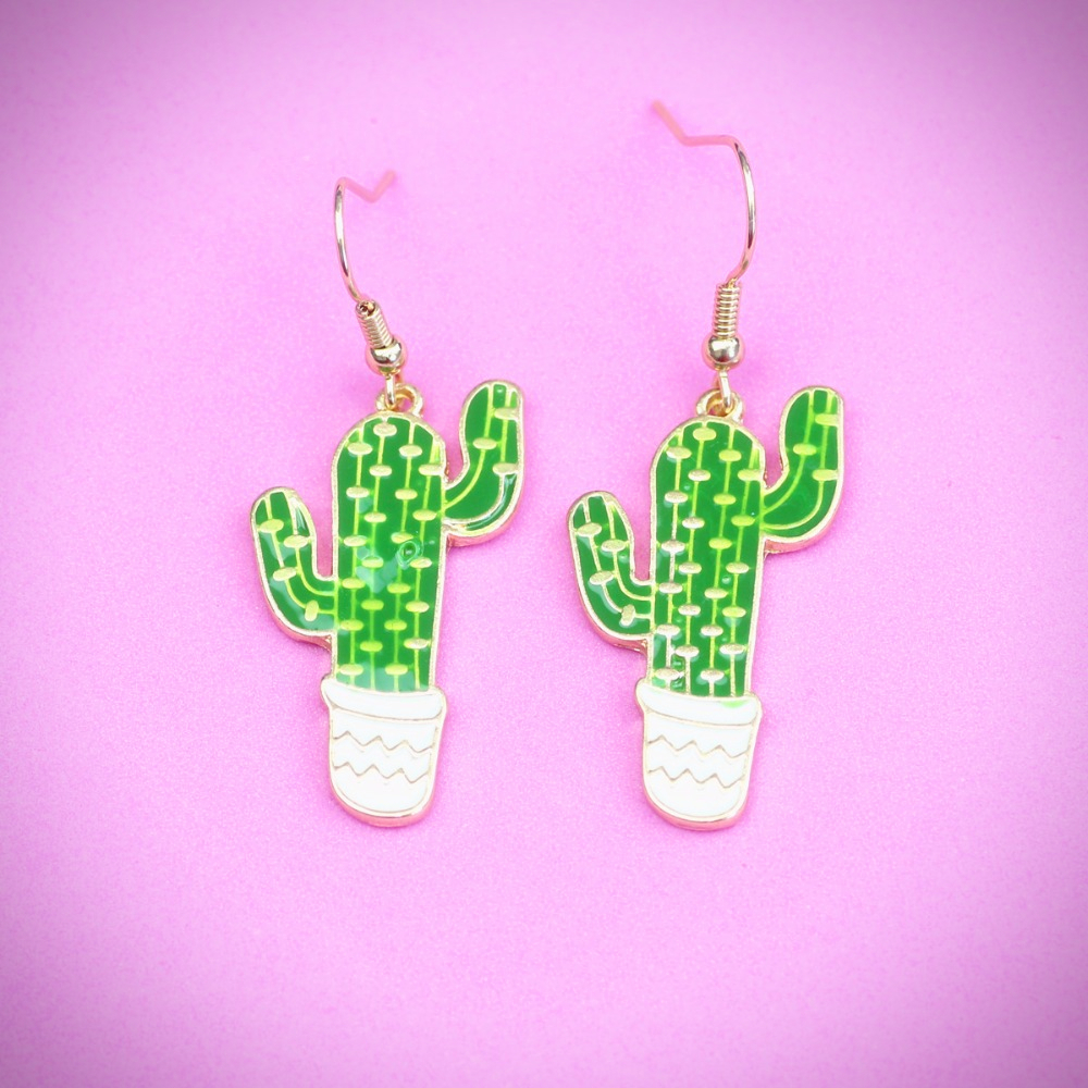 Cactus Earrings - Ice Cream Cake
