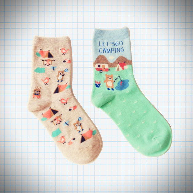Let's go Camping sock set (2 pairs) - Ice Cream Cake