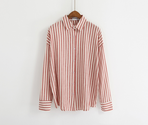 Candy Stripe Blouse (3 Colours) - Ice Cream Cake