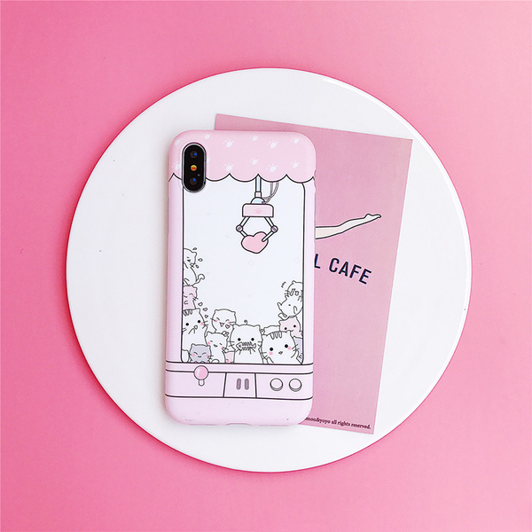 Kitten Crane Game iPhone Case - Ice Cream Cake