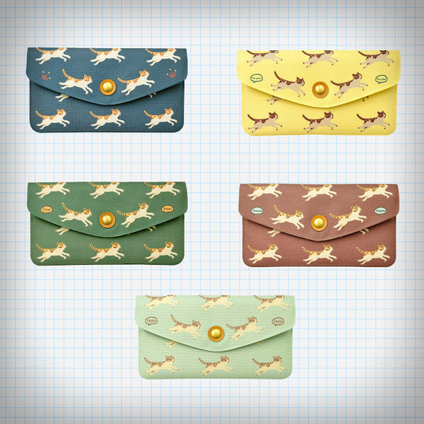 Jumping Kitty Pattern Long Wallet (5 Colours) - Ice Cream Cake