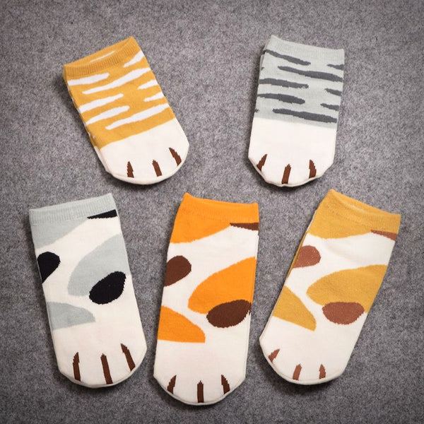 Cat Paw Low Sneaker Socks - Ice Cream Cake