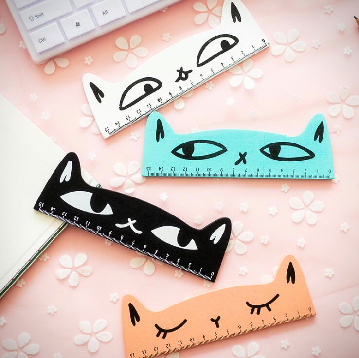 Candy Colour Kitty Cat Ruler (4 Designs) - Ice Cream Cake