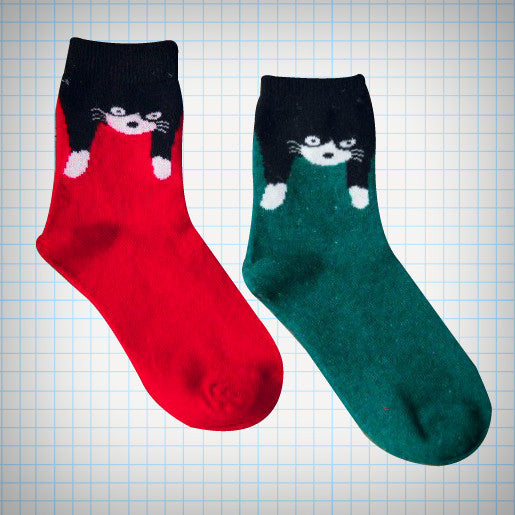 Floppy Cat Ankle Sock Set (2 pairs) - Ice Cream Cake