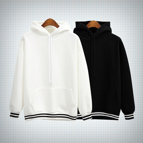 Contrast Cuff Hooded Pullover (2 colours) - Ice Cream Cake