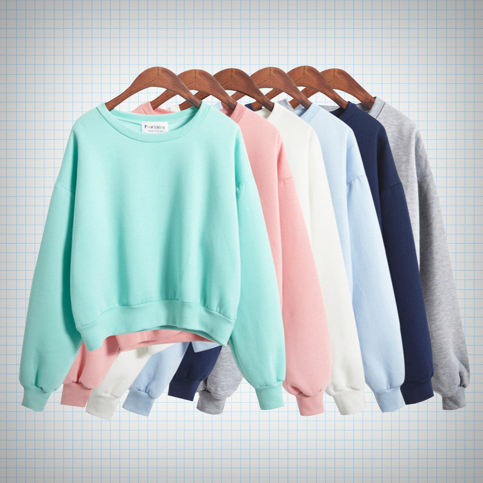 Pastel Cropped Pullover (5 colours) - Ice Cream Cake