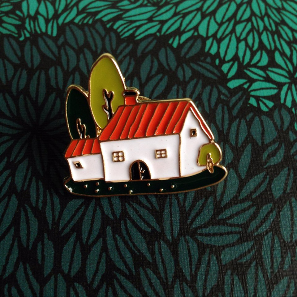 Farmhouse Enamel Pin - Ice Cream Cake