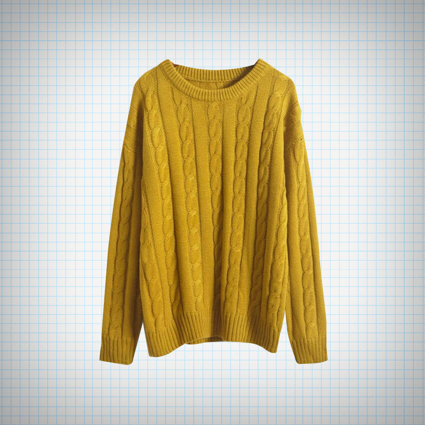 Fisherman Style Knit Sweater (12 colours) - Ice Cream Cake