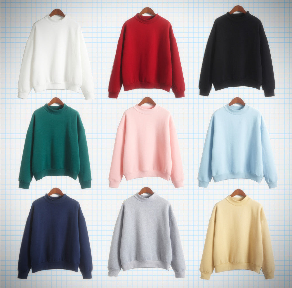 Mock Turtleneck Multicolour Pullover - Ice Cream Cake